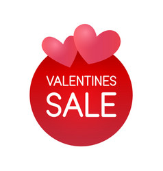 valentine day sale sticker label for special vector image