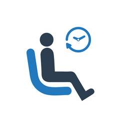 Waiting waiting room icon vector