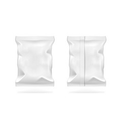 White blank foil food snack pack for chips candy vector