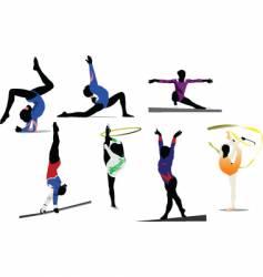 woman gymnastic vector image