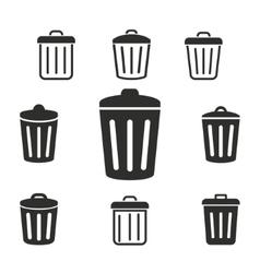 Bin icon set vector image