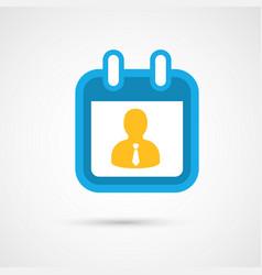Calendar icon - business vector