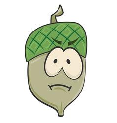 Cartoon Sad Acorn vector image vector image