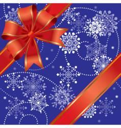 Christmas gift seamless vector image