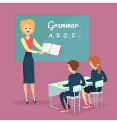 Children s Grammar Teaching vector image vector image