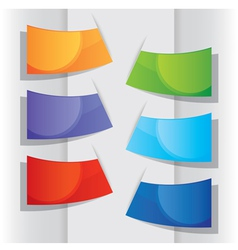Colorful label design elements vector image