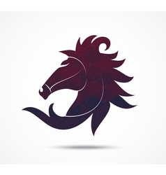 Horse abstract icon isolated on white vector image vector image
