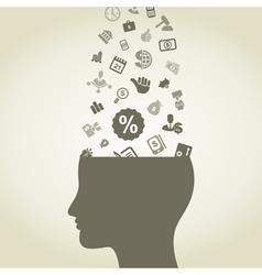 Idea business vector image