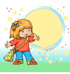 Little girl vector image vector image