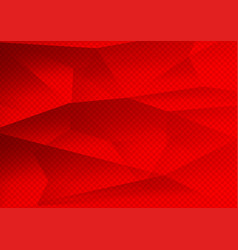 red color polygon abstract background technology vector image
