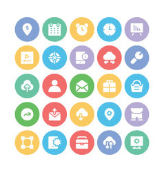 SEO and Marketing Icons 8 vector image