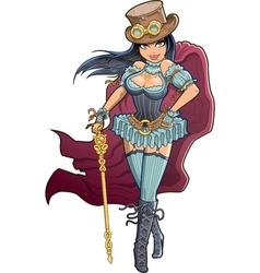Sexy Victorian Steampunk Woman vector image vector image