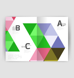 triangle print template vector image vector image