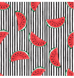 water melon seamless pattern striped vector image vector image