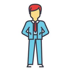Businessman manager ceo boss management vector