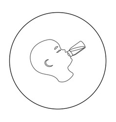 feeding icon in outline style isolated on white vector image