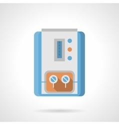 Gas boiler flat color icon vector