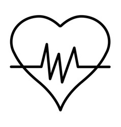 heartbeat line icon simple 96x96 pictogram vector image