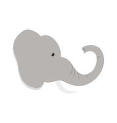 isolated elephant cartoon vector image vector image