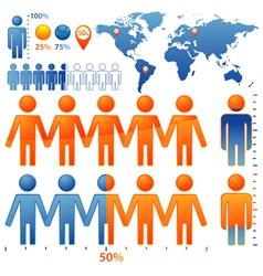 population percentage vector image