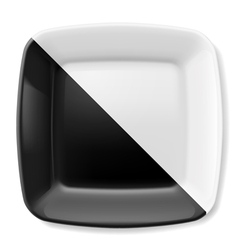 Black and white plate vector image vector image