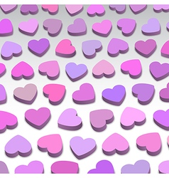 3D hearts vector image