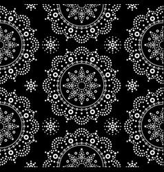 Aboriginal dot painting mandala seamless pattern vector