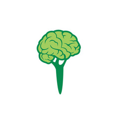abstract broccoli brain logo icon vector image
