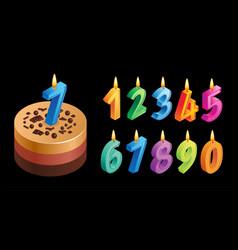anniversary cake concept vector image
