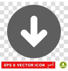 Arrow Down Round Eps Icon vector