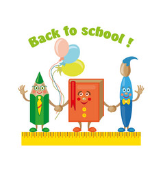 Back to school title poster design vector