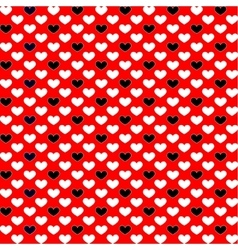 Background from black and red hearts vector
