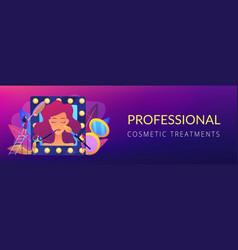 Beauty salon concept banner header vector