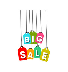 big sale word vector image