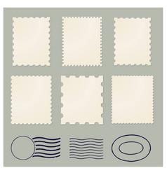 blank postage vintage stamps frames vector image