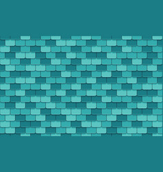 Blue roof tiles seamless pattern vector