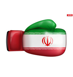 Boxing gloves with iran flag vector