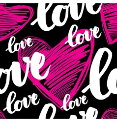 Calligraphy love seamless 4 vector