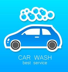 car wash sign logo vector image