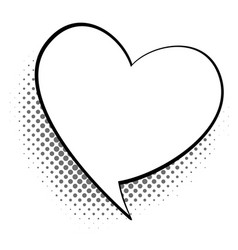 cartoon talking heart comic speech and thought vector image