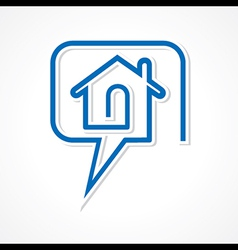 Chat for real estate concept vector image