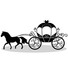 coach wedding carriage vintage carriage with the vector image