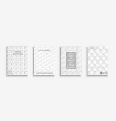 collection white textured covers posters vector image