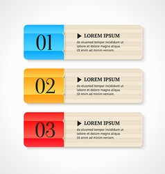 Color numbered option banners on light background vector image