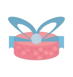 Colored gift box wrapped paper bow dotted vector