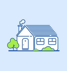 comfortable house outline vector image