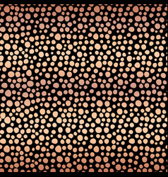 copper foil shiny dots seamless background vector image