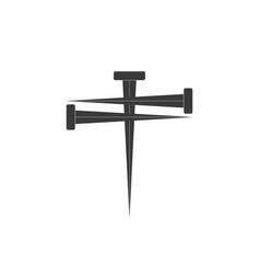 cross nail cross icon and nail icons nail vector image