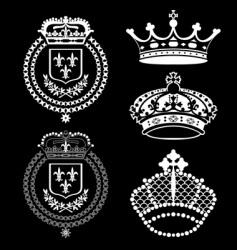 crown set vector image
