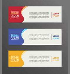 curly banner template design with horizontal vector image